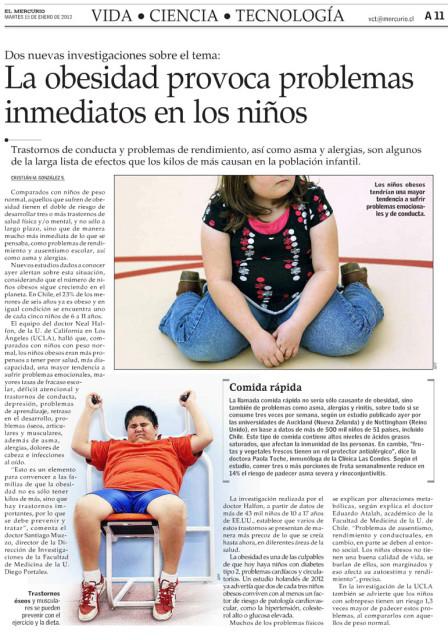 La obesidad provoca problemas inmediatos en los niños
